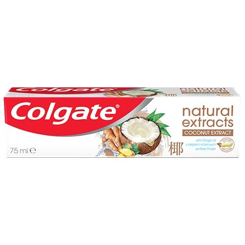 Colgate® Natural Extracts Ginger & Coconut Fogkrém 75ml
